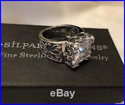 Silpada Size 6.5 Uptown Cubic Zirconia Sterling Silver RingR0981 MINT