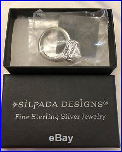 Silpada Size 7 Uptown Cubic Zirconia Sterling Silver Ring R0981 MINT
