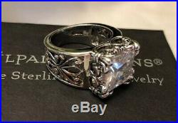 Silpada Size 7 Uptown Cubic Zirconia Sterling Silver RingPRISTINE IN BOX! R0981