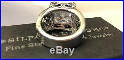 Silpada Size 8 Uptown Cubic Zirconia Sterling Silver RingPRISTINE IN BOX! R0981