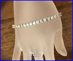 Silpada Sterling Silver Bracelet B1323 Cubic Zirconia CZ Tennis Bracelet HTF