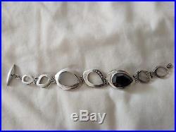 Silpada Sterling Silver CZ Crystal Hematite Tuxedo Bracelet B2713 cubic $279
