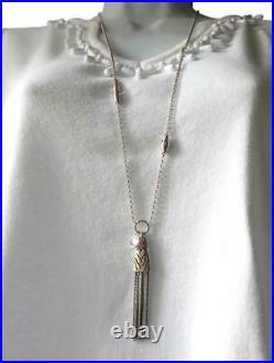 Silpada Sterling Silver CZ Taos Dangle Tassel Necklace 32 inch N3112 RARE cubic