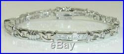 Silpada Sterling Silver CZ Tennis Bracelet B0764.925 Cubic Zirconia Rare NEW