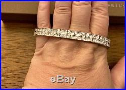 Silpada Sterling Silver Cubic Zirconia Double Row Tennis Bracelet B1390 NEW RARE