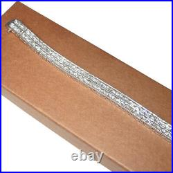 Silpada Sterling Silver Cubic Zirconia Double Row Tennis Bracelet B1390 RARE