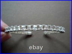 Silpada Sterling Silver Flexible Cubic Zirconia Cuff Bracelet B2094
