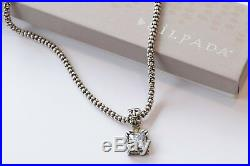 Silpada Sterling Silver Popcorn Chain Necklace N1106 Uptown Cubic Pendant S0979