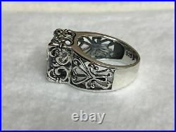 Silpada Sterling Silver Uptown Cubic SIZE 10 CZ Filigree Ring R0981 RARE HTF