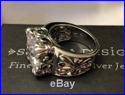 Silpada Uptown Cubic Zirconia Size 9 Sterling Silver Ring R0981 MINT