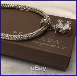 Silpada VTG N0603 Omega S-Clasp Chain & S0979 Uptown Cubic Zirconia Pendant