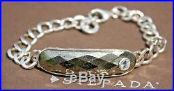 SilpadaA-List Pyrite, Sterling Silver & Cubic Zirconia BraceletB2904