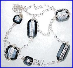 SilpadaVision Sterling Silver, Cubic Zirconia & Hematite NecklaceN2924