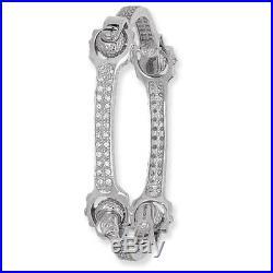Spanner Bangle Solid Silver Ladies Cubic Zirconia 25 Grams Hallmarked British