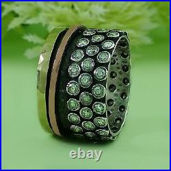 Spinner Two Tone 9k Yellow & Rose Gold Silver 1.6 Carat Cubic Zirconia Ring Size