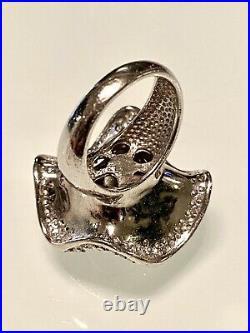 Statementrhodolite Garnetcubic Zirconia 3d Flower Ring Sz8 12grs
