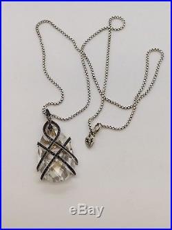 Stephen Webster Sterling Silver & Crystal Necklace Black Cubic Zirconia 30