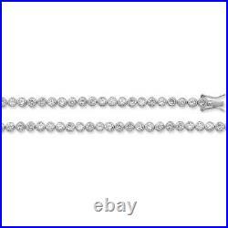 Sterling Silver 4mm Cubic Zirconia Tennis Necklace 17 / 43cm (1099cz)