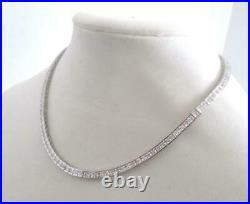 Sterling Silver 4mm Micro Tennis Chain Cubic Zirconia Solid 925 16 Necklace