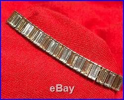 Sterling Silver 925 Baguette Two-tone Cubic Zirconia 7.5 Ladies Tennis Bracelet