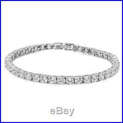 Sterling Silver. 925 CZ Cubic Zirconia Women's Fashion Tennis Bracelet
