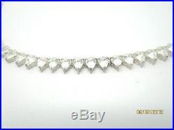 Sterling Silver 925 Cubic Zirconia Tennis Necklace Bridal