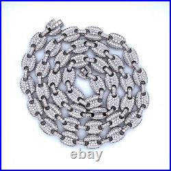 Sterling Silver 925 Gucci Link Necklace 22 Cubic Zirconia