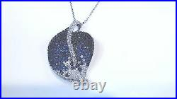 Sterling Silver CUBIC ZIRCONIA Leaf Design Necklace