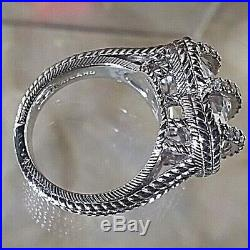 Sterling Silver Cubic Zirconia Caged Heart Ring Size 6 By Judith Ripka