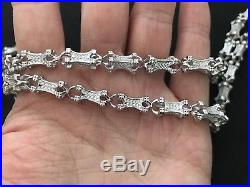 Sterling Silver Cubic Zirconia Chain. 36 inch