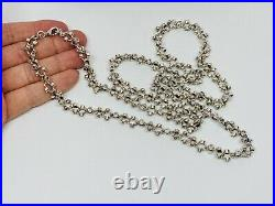 Sterling Silver Cubic Zirconia Chain. 39 inch