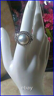 Sterling Silver Cubic Zirconia Pearl Ring By Judith Ripka