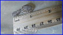 Sterling Silver Cubic Zirconia Rope Pattern Earrings By Judith Ripka
