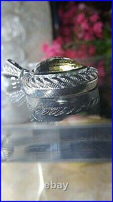 Sterling Silver Cubic Zirconia Topaz Tear Drop Pendant By Judith Ripka