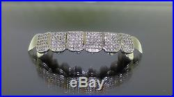 Sterling Silver Custom fit Iced Out Cubic Zirconia Micro Pave Set Grill Grillz