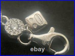 Sterling Silver Icejewlz Cubic Zirconia Chain. 22.5 inch