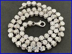 Sterling Silver Icejewlz Cubic Zirconia Chain. 22 inch