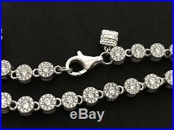 Sterling Silver Icejewlz Cubic Zirconia Chain. 24 inch