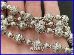 Sterling Silver Icejewlz Cubic Zirconia Chain. 32 inch