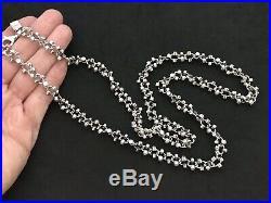 Sterling Silver Icejewlz Cubic Zirconia Chain. 34 inch