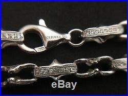 Sterling Silver Icejewlz Cubic Zirconia Chain. 36 inch
