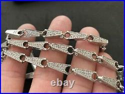 Sterling Silver Icejewlz Cubic Zirconia Chain. 37 inch