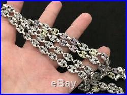 Sterling Silver Icejewlz Multi Colour Cubic Zirconia Chain. 36 inch