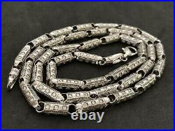 Sterling Silver Long Cubic Zirconia Chain. 32 inch