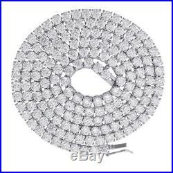 Sterling Silver Mens Womens 5mm-18 Cubic Zirconia CZ Tennis Chain SLV-79265