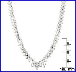 Sterling Silver White Cubic Zirconia Tennis Necklace