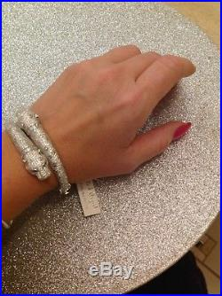 Sterling silver cubic zirconia Panther Style Bangle