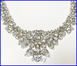 Stunning 925 Sterling Silver Qvc Diamonique Cubic Zirconia Necklace 17 Lot9