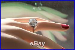 Stunning Bottega Veneta 10.49 carat Round Cubic Zirconia Sterling Silver Ring
