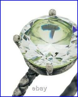 Stunning Bottega Veneta 10.49 carat Round Cubic Zirconia Sterling Silver Ring 5